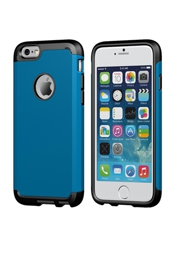 Microsonic Slim Fit Dual Layer Armor iPhone  6 (4.7) Kılıf Mavi Renkli